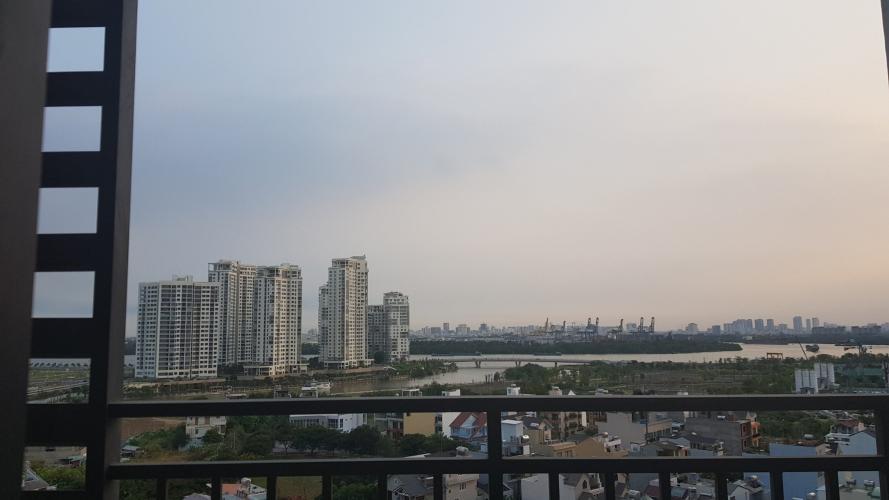 VIEW đảo kim cương Cho thuê căn hộ The Sun Avenue tầng trung, diện tích 75m2, 2PN, ban công hướng Tây Nam