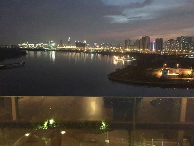 Ban công Đảo Kim Cương, Quận 2 Căn hộ Đảo Kim Cương view sông và thành phố, đầy đủ nội thất.