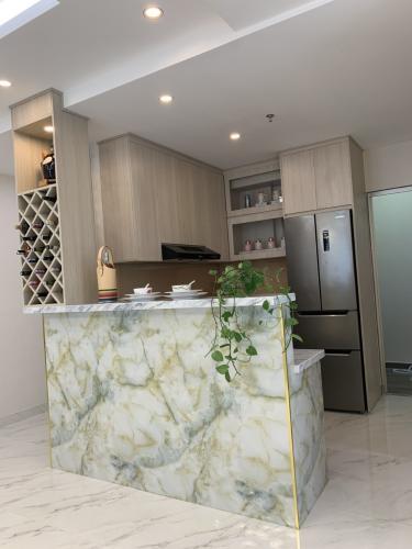 phòng bếp căn hộ midtown Căn hộ Phú Mỹ Hưng Midtown nội thất cơ bản, view nội khu mat mẻ.