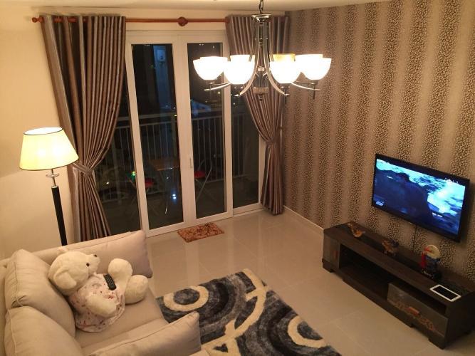 Căn hộ An Phú Apartment tầng trung, ban công hướng Tây.