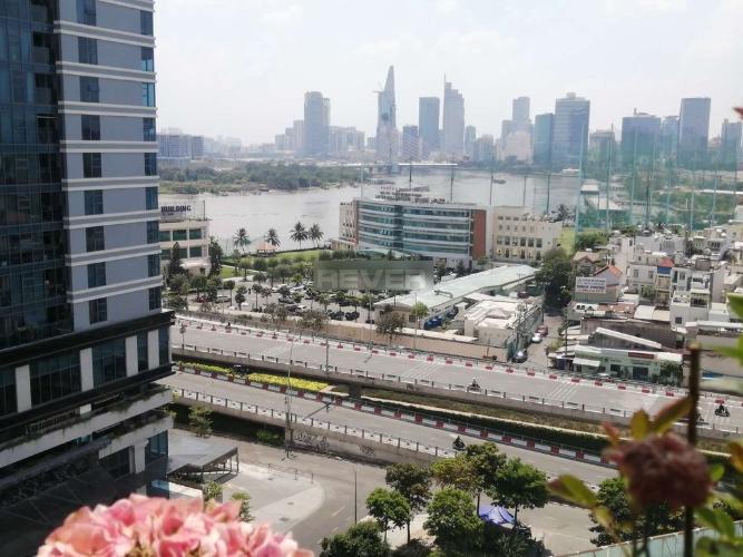 View căn hộ Riverside 90, Bình Thạnh Căn hộ tầng 10 Riverside 90 hướng Nam thoáng mát, đầy đủ nội thất.