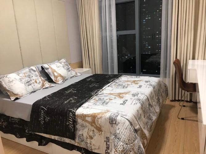 Phòng ngủ căn hộ Sunwah Pearl Căn hộ tầng 22 Sunwah Pearl đầy đủ tiện nghi cao cấp, hướng Tây Nam.