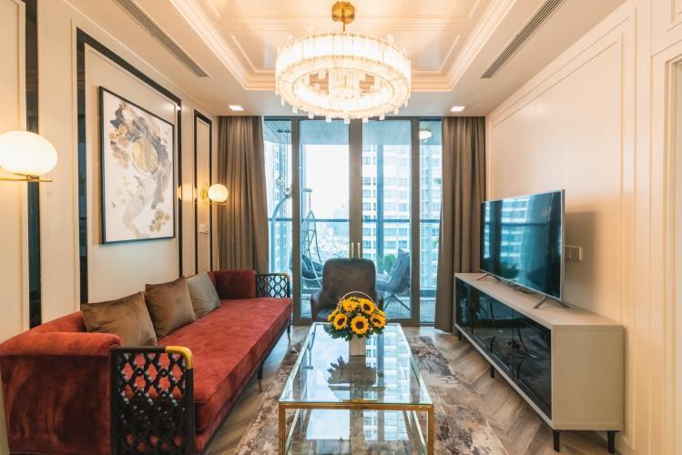 Căn hộ Vinhomes Central Park diện tích 78m2, đầy đủ nội thất hiện đại.