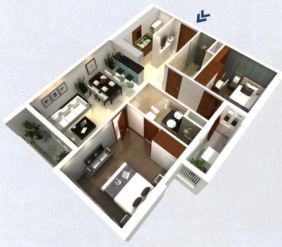 Căn hộ Dự án 152 Điện Biên Phủ cửa hướng Tây Bắc, nội thất cơ bản.
