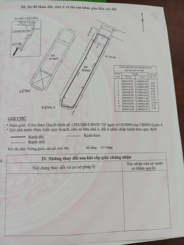 Bản vẽ nhà phố Đoàn Văn Bơ, Quận 4 Nhà phố hướng Đông Bắc, đường trước nhà 5m, xe hơi qua lại.