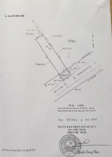 Mặt bằng nhà phố quận 1 Nhà hẻm Cống Quỳnh Quận 1, diện tích 3.12x14.6m, gần bệnh viện Từ Dũ.