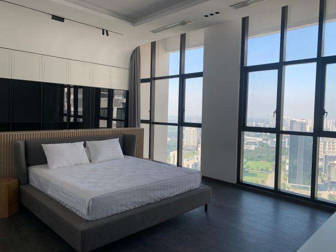 phòng ngủ penthouse riviera point Căn hộ Penthouse Riviera Point đầy đủ nội thất, view sông thơ mộng.