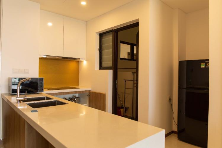 Phòng bếp One Verandah Quận 2 Căn hộ One Verandah hướng Đông Nam, đầy đủ nội thất.