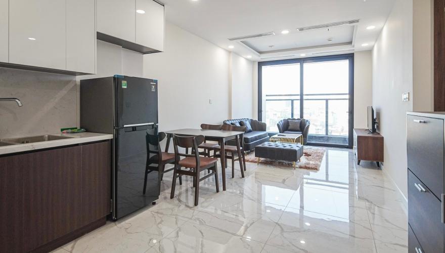 phòng khách căn hộ Sunshine City Saigon Căn hộ tầng 06 Sunshine City Sài Gòn ban công hướng Đông Bắc
