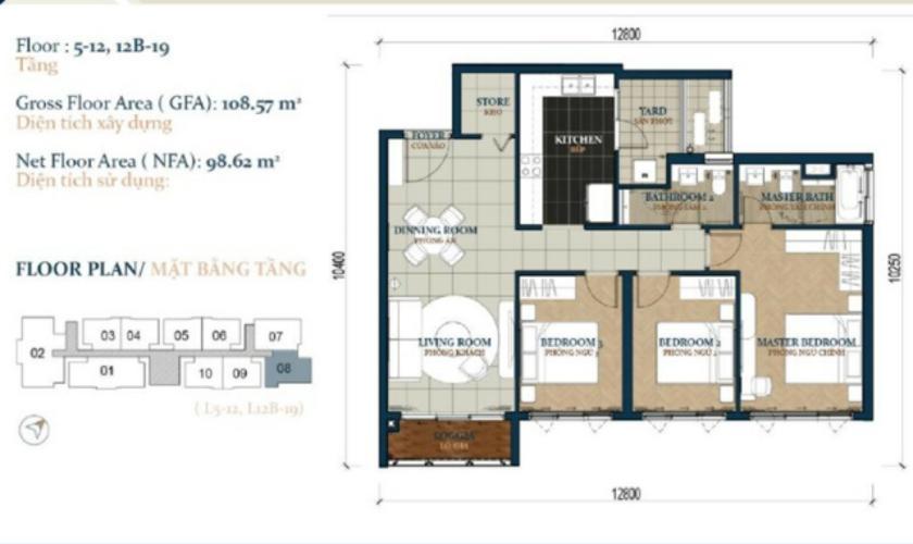 Căn hộ Feliz En Vista tầng 7 view thoáng mát, nội thất cơ bản.