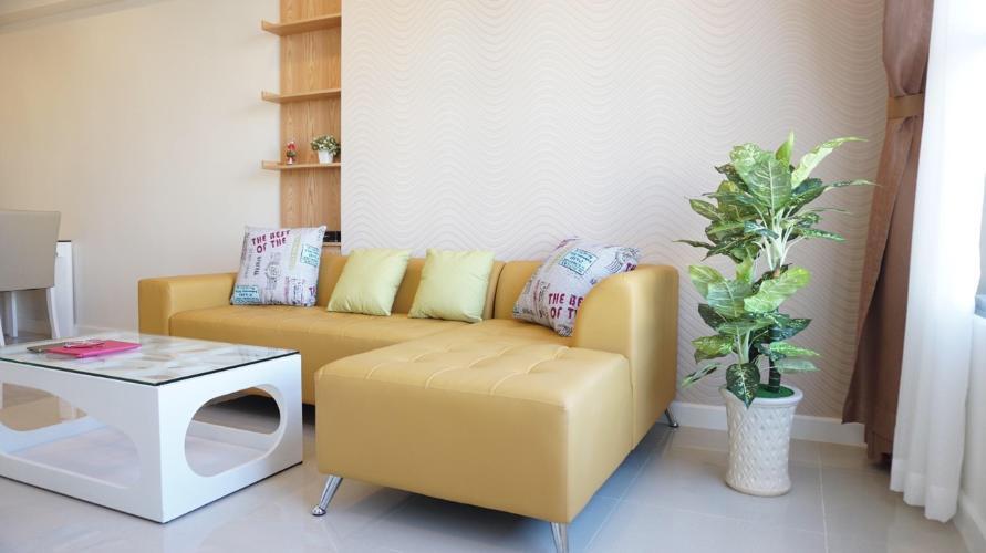 Căn hộ Icon 56 đầy đủ nội thất, ban công rộng rãi.