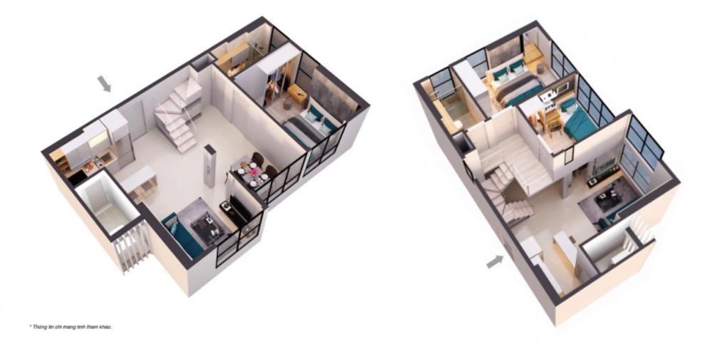 Căn hộ CitiAlto tầng 9 cửa hướng Tây Bắc, không có nội thất.