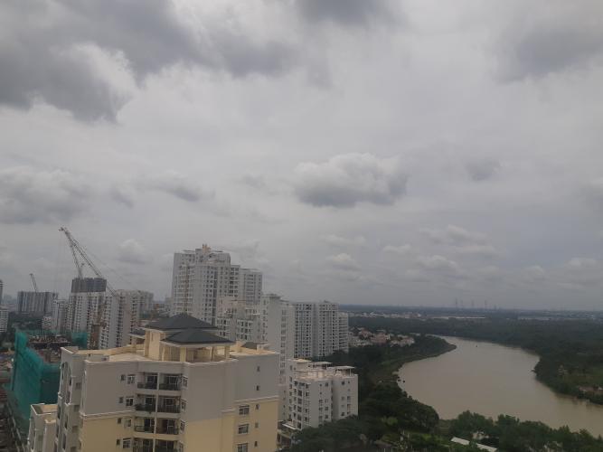 View căn hộ Phú Mỹ Hưng Midtown Căn hộ tầng cao Phú Mỹ Hưng Midtown, nội thất cao cấp đầy đủ.