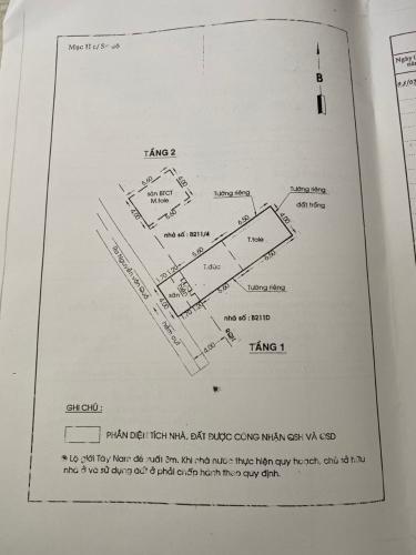 Bản vẻ nhà phố Quận 12 Nhà phố Quận 12 diện tích sử dụng 120m2, sổ hồng riêng.