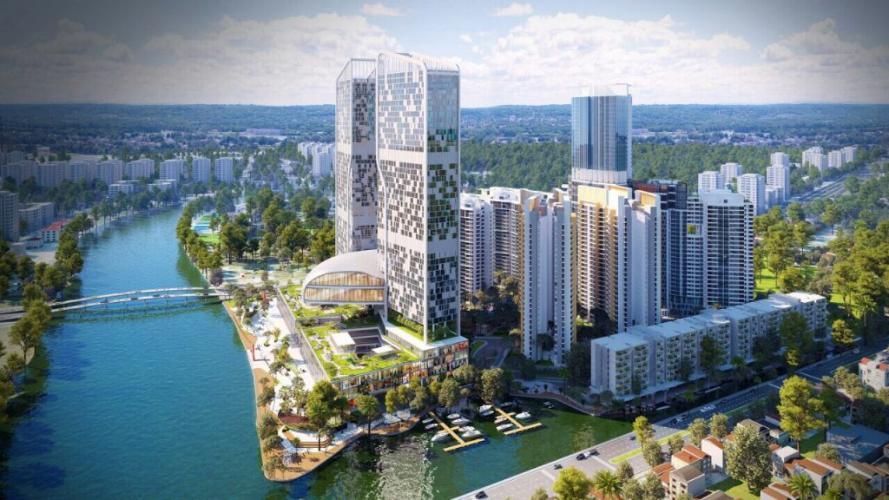 River Panorama, Quận 7 Căn hộ tầng trung River Panorama view thành phố, chưa bàn giao.