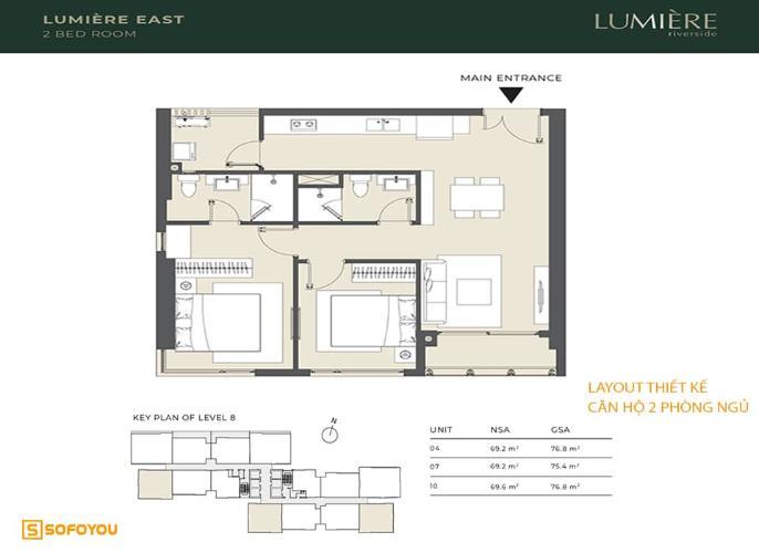 Căn hộ cao cấp Masteri Lumiere Riverside tầng cao, nội thất cơ bản.