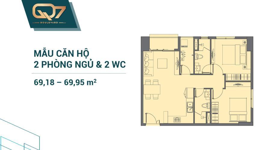 Căn hộ tầng cao Q7 Boulevard bàn giao nội thất cơ bản.