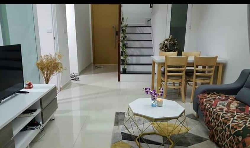 Phòng khách căn hộ Vista Verde Quận 2 Căn hộ Duplex Vista Verde tầng trung, đầy đủ nội thất.