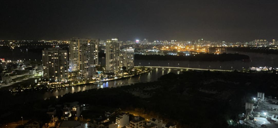 view cảnh căn hộ The Sun Avenue Căn hộ The Sun Avenue tầng cao, ban công hướng Đông Bắc.