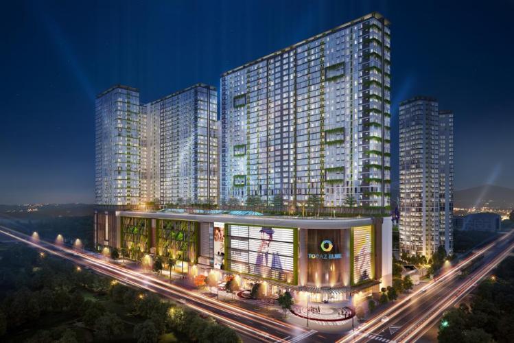 Tổng quan dự án Topaz Elite Căn hộ Topaz Elite tầng cao, hướng Tây Bắc, view thành phố.