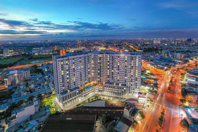 Căn hộ Moonlight Boulevard, Bình Tân Căn hộ Moonlight Boulevard tầng 13 nội thất đầy đủ, cửa hướng Tây Bắc.