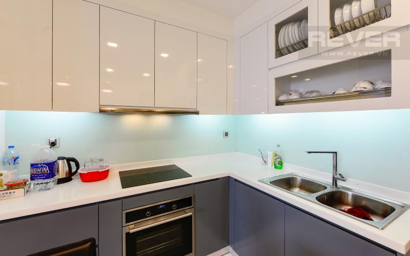 bếp Căn hộ 2 phòng Vinhomes Central Park tại Park 6 tầng cao, tiện nghi và yên tĩnh