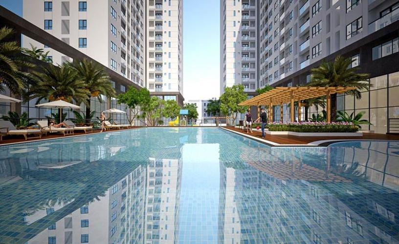 Tiện ích căn hộ Q7 Boulevard Bán căn hộ Q7 Boulevard diện tích57,1m2 - 2 phòng ngủ và 1 toilet thuộc tầng trung, ban công hướng Bắc.