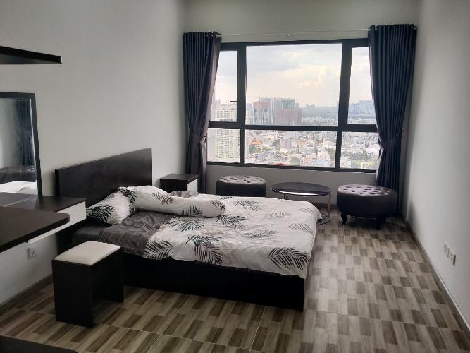 phòng ngủ căn hộ đảo kim cương Căn hộ Đảo Kim Cương tầng trung, đón view thành phố sầm uất.