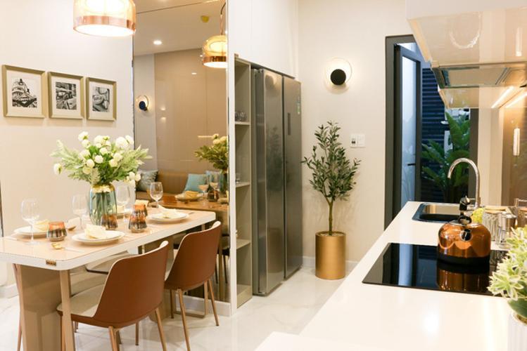 Phòng bếp căn hộ D'Lusso, Quận 2 Căn hộ D'Lusso tầng 8 hướng cửa Tây Bắc, trang bị nội thất cơ bản.