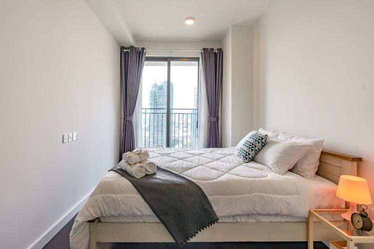 Phòng ngủ căn hộ The Tresor Căn hộ tầng trung The Tresor thiết kế hiện đại, không gian thoáng mát