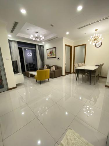 Phòng khách Căn hộ Vinhomes Central Park Căn hộ tầng 33 Vinhomes Central Park bàn giao nội thất đầy đủ