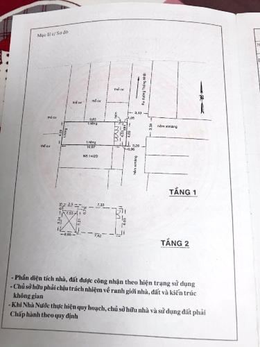 Bản vẽ nhà phố Thống Nhất, Gò Vấp Nhà phố hẻm xe hơi, hướng Đông Bắc, sổ hồng bàn giao ngay.