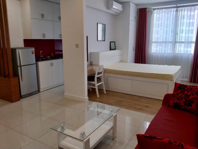 Phòng khách Icon 56, Quận 4 Căn hộ Icon 56 tầng trung, nội thất hiện đại tiện nghi.
