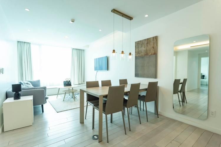Nội thất căn hộ Léman Luxury Apartment , Quận 3 Căn hộ tầng 15 Léman Luxury Apartments hướng Tây bắc, đầy đủ nội thất.