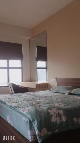 phòng ngủ căn hộ  3 phòng ngủ the sun avenue Căn hộ đầy đủ nội thất The Sun Avenue hướng Tây Nam.