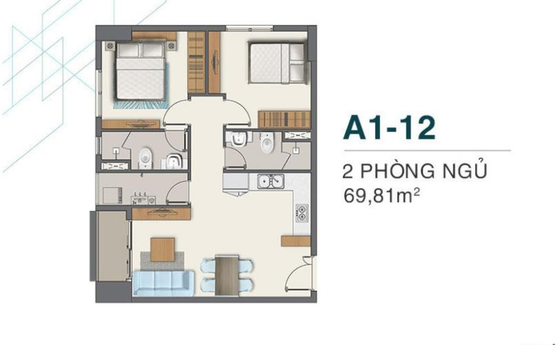 Căn hộ Q7 Boulevard tầng cao, 2 phòng ngủ, chưa bàn giao.