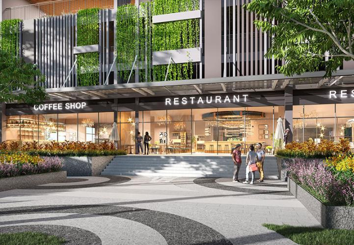 Tiện ích khu mua sắm Opal Boulevard Căn hộ Opal Boulevard tầng cao, hướng Đông Nam.