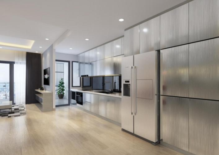 Phòng bếp căn hộ Riviera Point Căn hộ tầng 12 Riviera Point sàn gỗ, view thành phố thành phố sầm uất.