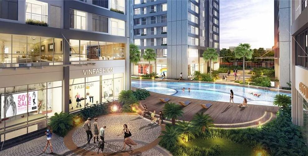 Tiện ích Q7 Boulevard Căn hộ Office-tel Q7 Boulevard tầng trung, bàn giao nội thất cơ bản.