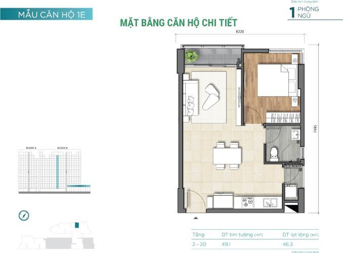 Căn hộ tầng cao D'Lusso nội thất cơ bản, view thoáng mát.