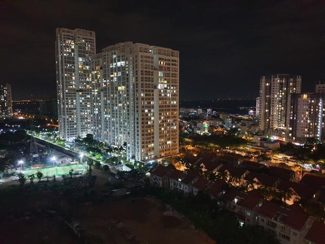View ban đêm Căn hộ Saigon South Residence tầng trung ban công hướng Nam đón gió