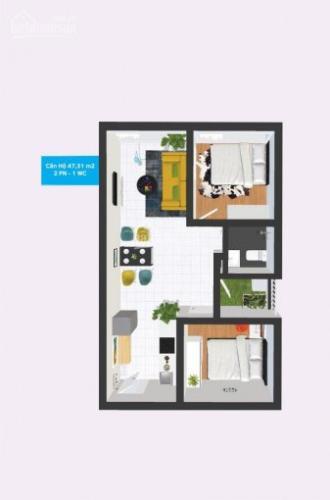Căn hộ Topaz Home 2 tầng 6 view thoáng mát, nội thất cơ bản.