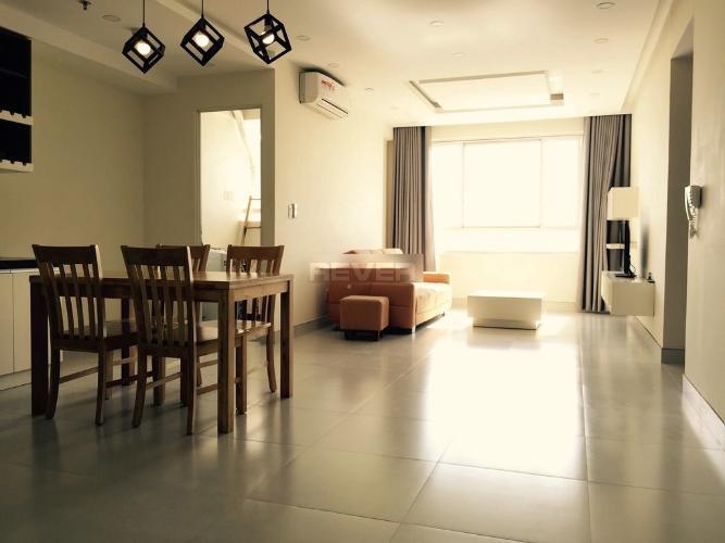 Căn hộ tầng 7 Tropic Garden nội thất đầy đủ, cửa hướng Tây Bắc.