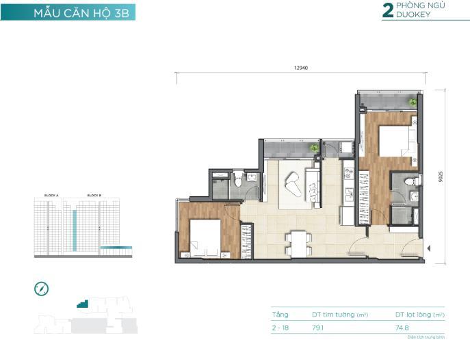 Bán căn hộ D'lusso tầng thấp, block B, diện tích 68.5m2, nội thất cơ bản