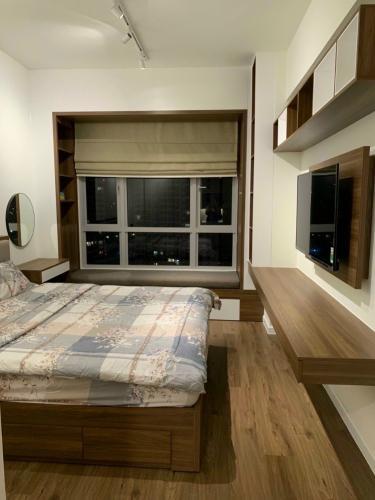 phòng ngủ căn hộ Estella Heights Căn hộ Estella Heights hướng Tây Bắc, nội thất đầy đủ.
