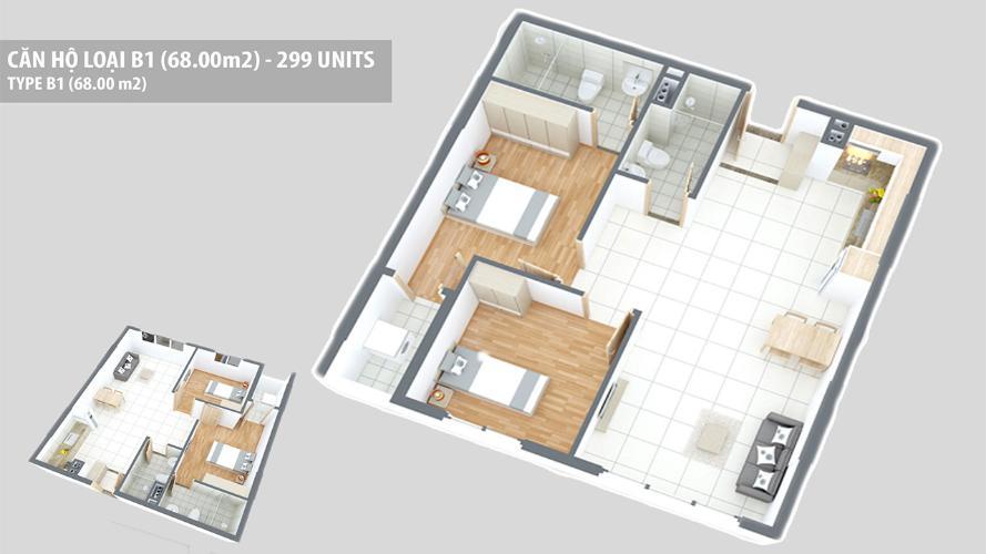 Căn hộ Green Hills Apartment tầng 6 view thoáng mát, nội thất cơ bản.