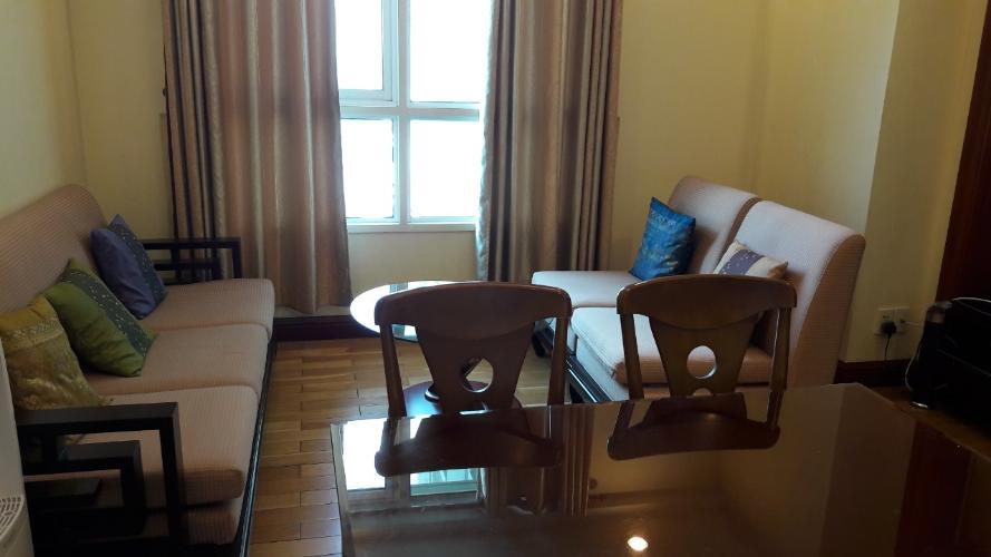 Không gian căn Office-tel The Manor, Bình Thạnh Căn Studio The Manor đón nắng và gió thoáng mất, đầy đủ nội thất.