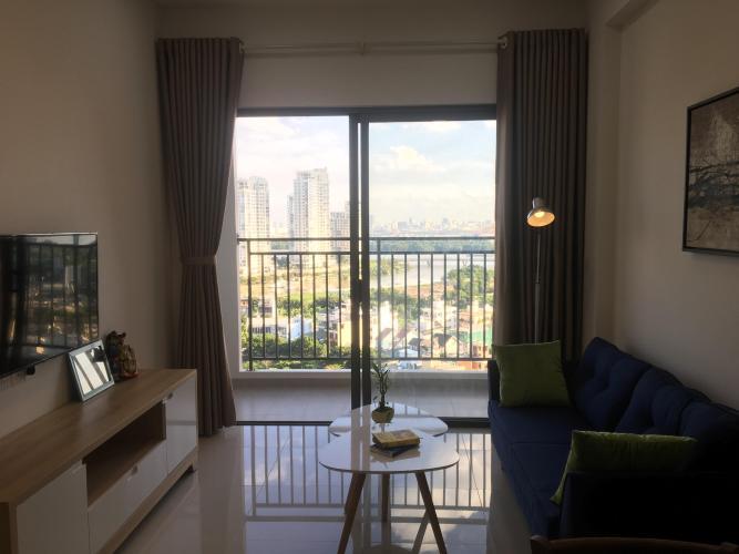 Phòng khách căn hộ The Sun Avenue Căn hộ tầng cao The Sun Avenue, tiện ích cao cấp, nội thất đầy đủ.