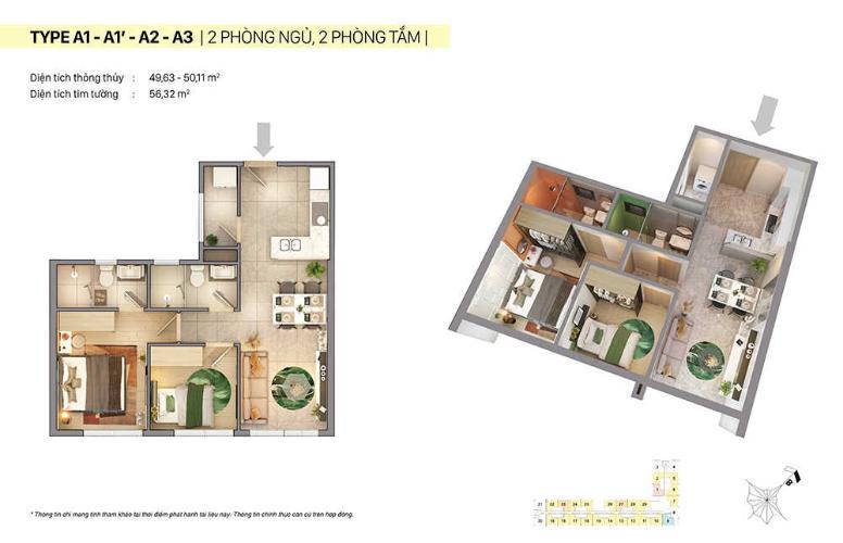 căn hộ tầng 12 CitiGrand cửa hướng Đông, bàn giao nội thất cơ bản.