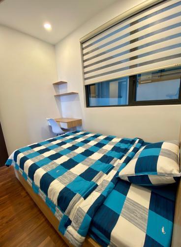 Phòng ngủ căn hộ One Verandah, Quận 2 Căn hộ One Verandah tầng cao thoáng mát, đầy đủ nội thất.